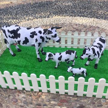 Realistic Fluffy Cow Animal Model Toy DIY Dollhouse Scenery Desktop Ornament{0}